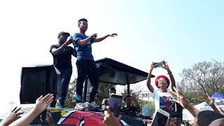 Nasty C performing send me away at wits university (SMA)