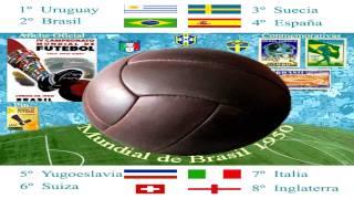 Mundial Brasil 1950 World Cup - Música - Composición Gráfica  (No había canción oficial)