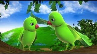 Chitti Chilakamma - Parrots 3D Animation Telugu Rhymes For children with lyrics width=