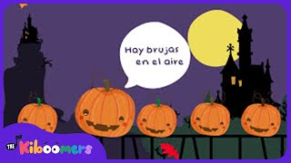 Cinco Calabazas | Halloween | Five Pumpkins |  Kids Songs | Canciones Infantiles | The Kiboomers