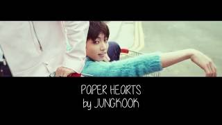 Jungkook (Cover) - Paper Hearts by Tori Kelly (Eng/Greek Lyric Video)