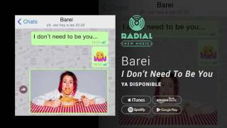 Barei - I Don't Need To be You (Single Trailer)