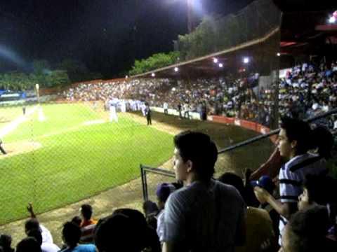 Crazy baseball fans in León, Nicaragua.