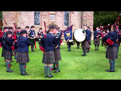 Pipe Band Stone Of Destiny Scone Palace Perth Perthshire Scotland