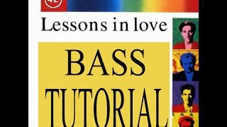 Lessons in Love - Bass Tutorial - Mark King - Slap bass lesson width=