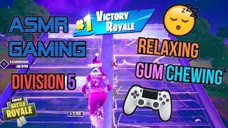 ASMR Gaming 😴 Fortnite Relaxing Division 5 Gum Chewing 🎮🎧 Controller Sounds + Whispering 💤