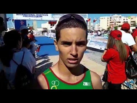 Video : Grand Prix national de triathlon, étape de Dakhla : Les réactions du vainqueur, Nabil Kouzkouz, et de son dauphin Amine Farih