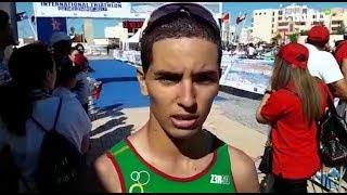 Grand Prix national de triathlon, étape de Dakhla : Les réactions du vainqueur, Nabil Kouzkouz, et de son dauphin Amine Farih