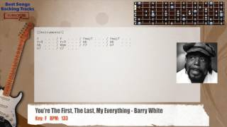 You're The First The Last My Everything - Barry White Guitar Backing Track with chords and lyrics