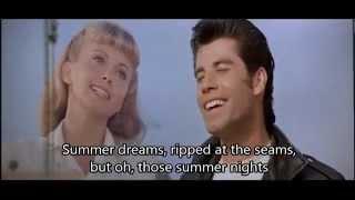 OLIVIA NEWTON JOHN & JOHN TRAVOLTA SUMMER NIGHTS (WITH LYRICS)