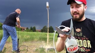Water Rockets + Diet Coke and Mentos