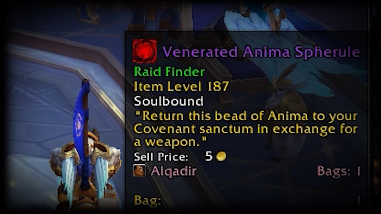 BlackSwanGaming - Venerated Anima Spherule | Kyrian Covenant Exchange Location | World of Warcraft: Shadowlands