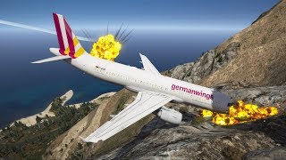 GTA 5 - When Crazy Co-Pilot Take Over The Cockpit Of Germanwings Flight 9525
