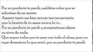 Banda El Recodo 2015- Por no perderte te perdí LETRA