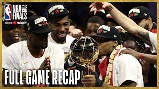 RAPTORS vs WARRIORS   Toronto Wins First NBA Championship!   NBA Finals Game 6