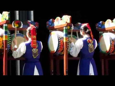 Amazing Samgo-Mu, Korean Three Drum Dance, Asian Culture in Vancouver