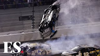 GRAPHIC CONTENT: Ryan Newman in terrifying Daytona 500 crash as Donald Trump leads well-wishes