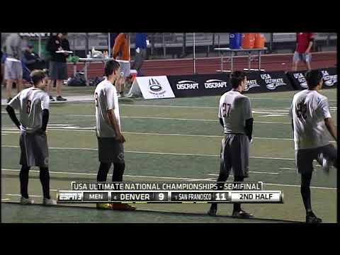 Video Thumbnail: 2013 National Championships, Men's Semifinal: San Francisco Revolver vs. Denver Johnny Bravo