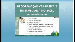 Macros e VBA no Excel 2003 - Avançado - Aula 29: Módulo 2