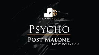 Post Malone Feat Ty Dolla Sign - Psycho - Piano Karaoke / Sing Along / Cover with Lyrics