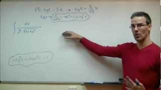 Imagen en miniatura para Integral trigonométrica con cambio de variable tangente 01