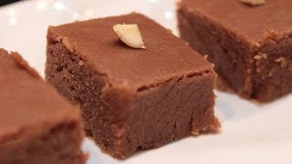 Choco Burfi | Home made Chocolate Barfi