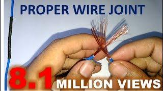 Proper Joint of Electric Wire