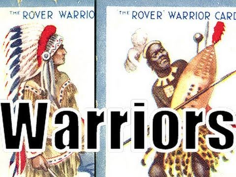 1920's Warriors Native Americans Zulus Papuan Headhunters Cossacks The Rover Comic Trading Cards