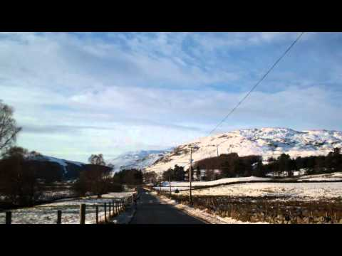 Winter Drive Scottish Highlands Of Scotland