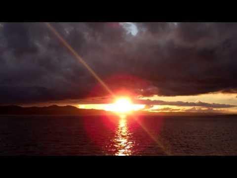 Setting Sun River Tay Dundee Scotland