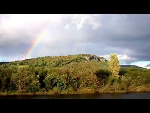 Rainbow Over Kinnoull Hill Perth Perthshire Scotland September 19th