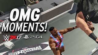 WWE 2K17 - All OMG MOMENTS! PS4 & XBOX ONE width=