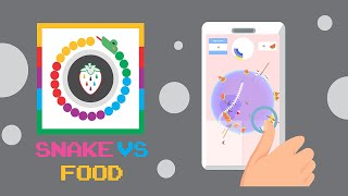 Snake vs Food Game Play Hyper Casual Mobile Game