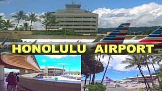 Honolulu International Airport, Oahu - Hawaii  4K
