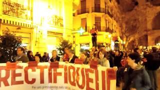 Video Manifestació RECTIFIQUEU !! Xarxa de Xarxes d'Acció Social i Cooperació