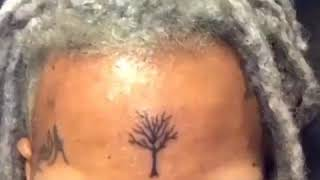 XXX Tentacion shaves his eyebrows off and changes his hair colour