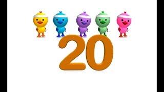 Los números del 1 al 20 - Canción infantil educativa - La Pelota Loca