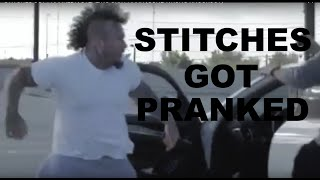 STITCHES GOT PRANKED! | STEALING CAR PRANK (GONE WRONG - KNOCKOUT)