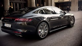 The new Panamera Turbo and Panamera 4S in motion. width=