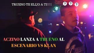 ACZINO EMPUJA a TRUENO al ESCENARIO y se le OLVIDAN LAS LÍNEAS | Batallas de Rap