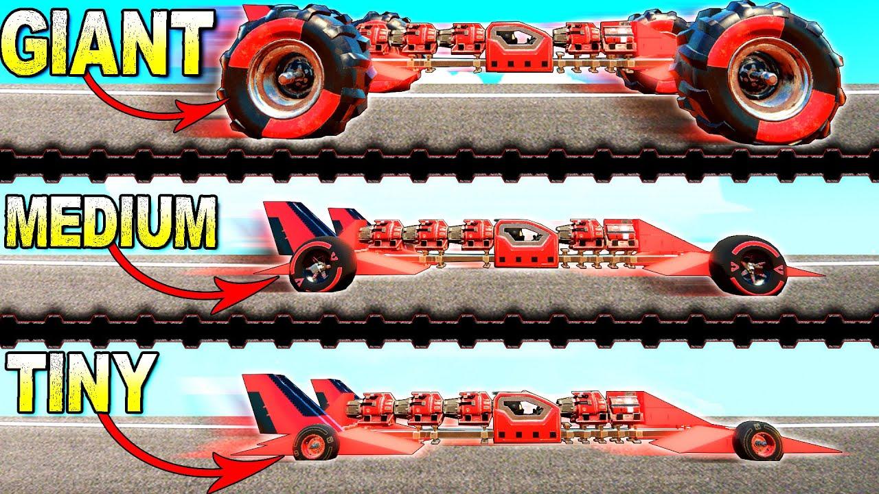 ScrapMan - CENTRIFUGE RACE: Small Wheels, Medium Wheels, Giant Wheels! - Trailmakers Multiplayer