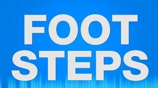 Footsteps SOUND EFFECTS - Walking Laufen Sand SOUND