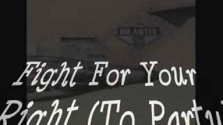 Fight For Your Right (To Party) - Beastie Boys - with lyrics