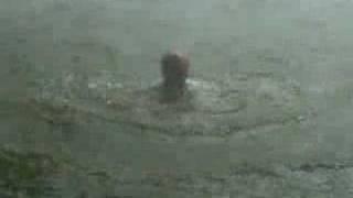 Rappel visto debaixo da cachoeira. Picada Verão - RS  Brasil