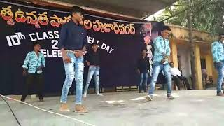 Dance performance by GHS boys in Huzurnagar
