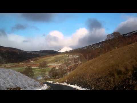 December Drive Narrow Road Scottish Highlands Scotland