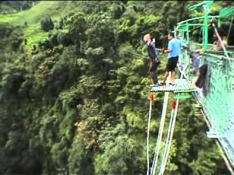 Bungy Jumping At The Border Of Nepal And Tibet