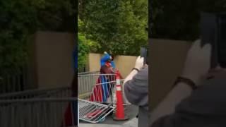 Superman & Batman fight Drunk man