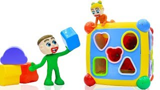 BABIES LEARNS SHAPES MATCHING BLOCK 💖 Play Doh Cartoons Animation