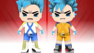 Buddypoke kakorot vs vegeta ssgss fight